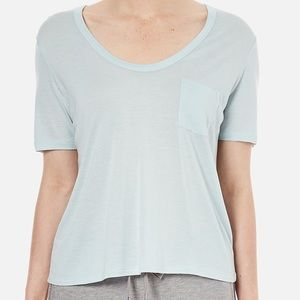 T by Alexander Wang pocket tee, cropped